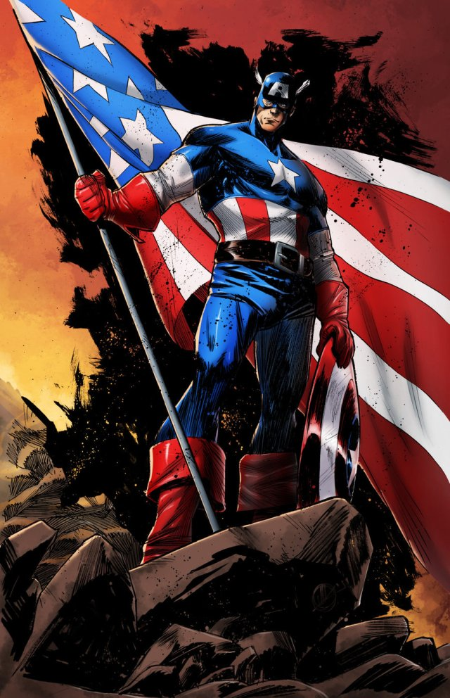 Captain America // artwork by Matteo Scalera and AsylumComics (2012)